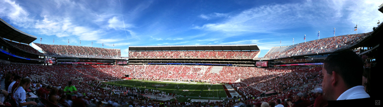 Bryant-Denny in all its newly-expanded glory...